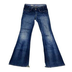 GAP Jeans Women's 4 27 Blue Flared Flap Pockets